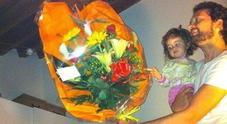 Federico tasso con la figlia Lucia morta a soli tre anni