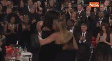 Golden Globe, l'ovazione delle star per Ophrah Winfrey