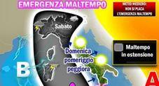 Non c'è tregua: nuova pertubazione, weekend di pioggia in tutta Italia