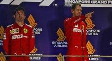 Leclerc e Vettel sul podio a Singapore