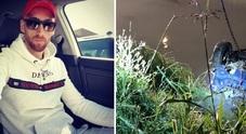 Marius Alin Marinica e l'auto delle vittime nel fosso