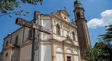 La chiesa di San Giorgio dove è avvenuta l'aggressione da parte di un gruppetto di ragazzini