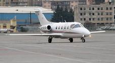 Un jet privato Gulfstream in una foto d'archivio