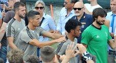 Juve, a Villar Perosa il delirio per Ronaldo