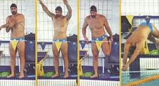 Raoul Bova, allenamenti duri in piscina: prova costume superata