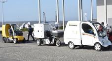 Portalettere piloti per un giorno nei corsi di guida a Vallelunga. La flotta veicoli di Poste Italiane diventa green