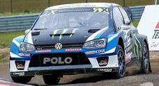 WRX, Kristoffersson (Wv Polo) la spunta in Belgio. 2° Hansen (Peugeot 208) poi Solberg (Wv Polo)