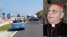 Schianto contro autocisterna: che spavento per il cardinale Vegliò