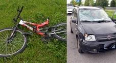 I mezzi coinvolti nel grave incidente accaduto in via Monsignor Nogara a Udine