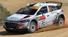 Rally di Sardegna, l'Aci Team Italia punta forte sulla grinta di Andolfi e la sua Hyundai i20 R5