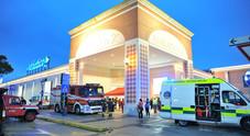 Vigili del fuoco e ambulanze al centro commerciale di Portogruaro