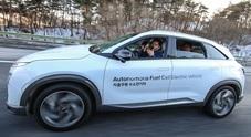 Hyundai, primi test con veicoli fuel cell a guida autonoma di livello 4. Utilizzato anche l'eco-Suv Nexo