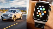 Bentayga, arriva l'app Bentley che permette di controllare le funzioni dell'auto con un Apple Watch