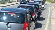 Le auto si tamponano: traffico bloccato e code sulla superstrada