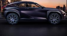 UX concept, propulsione ibrida e ruote alte: i segreti del Suv compatto di Lexus