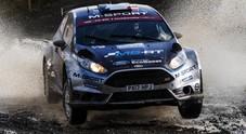 Rally GB, dominio Ford, tre Fiesta in testa nel fango del Galles