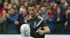Bimbo chiede autografo a Ronaldo al Friuli