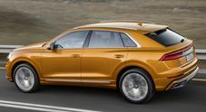 Q8, al volante conferma le emozioni che il design ispira. Sportività e comfort al top per il Suv coupé Audi