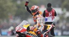 GP Francia, Marquez trionfa davanti alle Ducati di Dovizioso e Petrucci. 5° Valentino Rossi