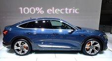 Audi e-tron Sportback, il Suv coupé elettrico dal design muscolare. Ha 360 cv e autonomia di 446 km