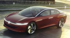 Volkswagen svela la I.D. Vizzion, limousine dell'era elettrica e autonoma senza volante e pedali