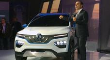 Renault, Ghosn svela a Parigi il mini-Suv K-ZE da 9.000 euro e sceglie la Cina per accelerare sull'elettrico