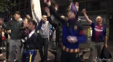 Barcellona campione di Spagna, tifosi in festa