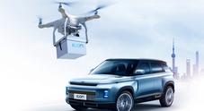 Geely, auto vendute on-line per evitare il contagio e le chiavi arrivano a casa col drone