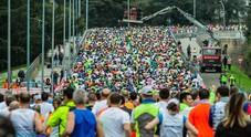 Mezza maratona Roma-Ostia: la partenza (foto Davide Fracassi/Ag.Toiati)