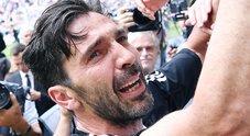 Buffon, ultima con la Juve: esce dal campo in lacrime