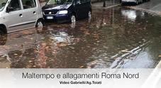 Maltempo, a Roma Nord traffico in tilt e allagamenti