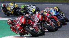 Trionfo Ducati al Mugello: Petrucci vince il suo primo Gp davanti a Marquez e l'altra rossa di Dovizioso. Cade Valentino