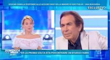 Giucas Casella sbotta a Domenica Live: «Non volevo mio figlio»