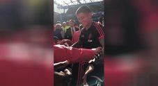 Chelsea-United, rissa sfiorata tra Mourinho e Sarri
