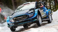 WRC, Suninen (Ford) al comando del Rally di Svezia. Ogier (Citroen) fuori dai giochi