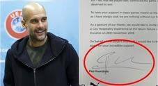 L'emozionante lettera scritta da Guardiola ai tifosi del Manchester City