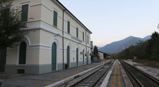 La stazione ferroviaria di Fener in comune di Alano di Piave