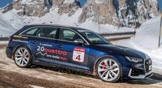20quattro ore delle Alpi, da Corvara a Cortina la Audi RS 4 Avant protagonista tra le perle dell'arco alpino