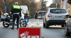 I vigili rilevano un incidente stradale