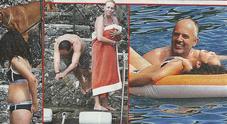 Antonella Clerici al mare dopo l'addio in tv con la figlia Maelle e Vittorio Garrone