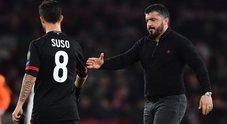 Milan, Gattuso: «Il rinnovo? Non scappo. Ora pensiamo a vincere le partite»