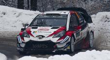 Rally Svezia, le Toyota Yaris subito in testa dopo la speciale notturna inaugurale. Tanak precede Latvala