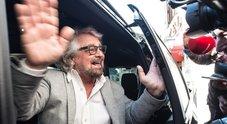 Beppe Grillo in tribunale a Roma: testimonia nel processo contro ex militante M5S Favia