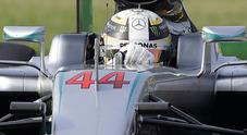 A Monza Mercedes subito davanti: Hamilton precede Rosberg. Poi le due Ferrari