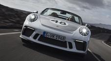911 Speedster, al volante della nuova super Porsche in tiratura limitata: 1948 esemplari, 510 cv, 310 km/h e 277.384 euro