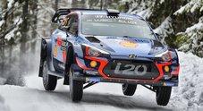 WRC, Tripletta provvisoria Hyundai in Svezia. Neuville davanti a Mikkelsen e Paddon. 12° Ogier