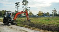 i lavori per il nuovo park davanti al Marco Polo