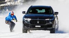 Jamie Barrow trainato da Maserati Levante sullo snowboard a 151,57 km/h. Battuto il Guinness World Record