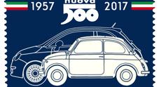 Le Poste dedicano un francobollo ai sessant'anni della Fiat 500