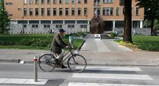 Il passaggio pedonale in viale Martelli